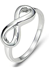 925 Sterling Silver Infinity Symbol Wedding Band Ring