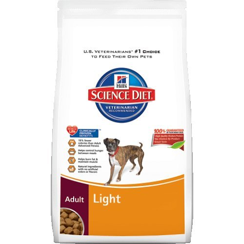 Hill's Science Diet Adult Light Dry Dog Food Bag, 33-Pound
