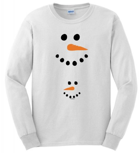 Pregnant Snowman Belly Maternity Themed Long Sleeve T-Shirt Medium White front-894452