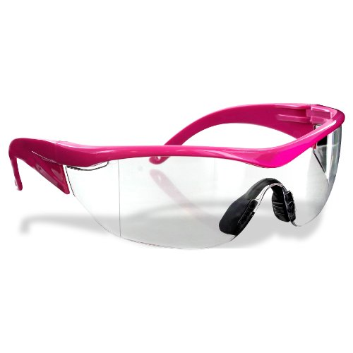 Safety Girl SC-282 Polycarbonate Navigator Safety Glasses, Clear Lens, Pink Frame