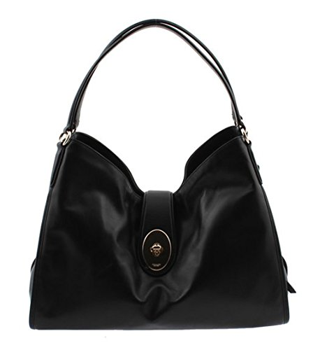 Image of Coach Carlyle Shoulder Bag in Smooth Leather F37637 (Black)