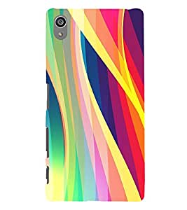 Colourful Waves Pattern 3D Hard Polycarbonate Designer Back Case Cover for Sony Xperia Z5 Premium (5.5 Inches) :: Sony Xperia Z5 Premium Dual