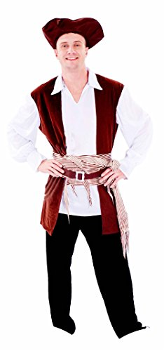 Junpai Men's Pirate Costume Shirt with Vest 640