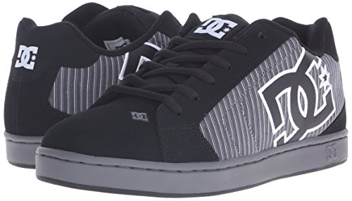 DC Men's Net SE Skate Shoe, Black Pinstripe, 7 M US