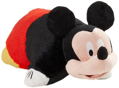 "Pillow Pets Authentic Disney 18"" Mickey Mouse, Folding Plush Pillow- Large front-730321"