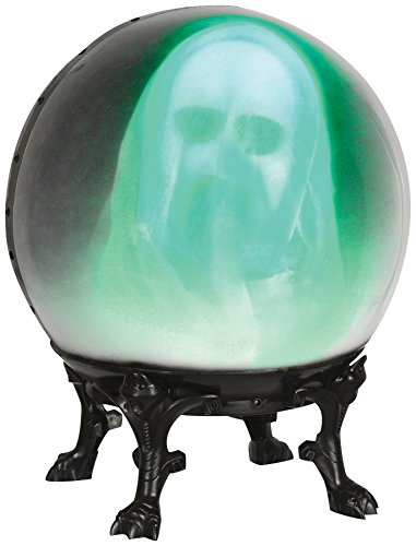 Crystal Ball with Face Out Ghost Halloween Prop Spooky Haunted House Decoration