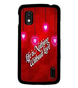 PrintDhaba Quote D-2693 Back Case Cover for LG GOOGLE NEXUS 4 (Multi-Coloured)