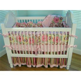 Striped Crib Bumper front-992895