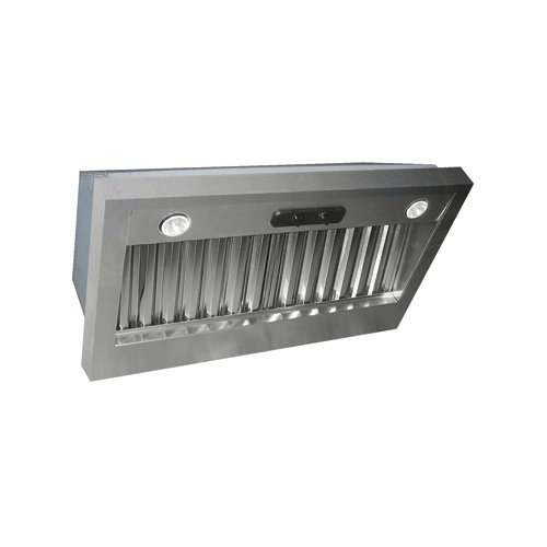 Air King LIN40 600 CFM 42 Inch Wide Range Hood Liner with Dual Halogen Lighting, Stainless Steel