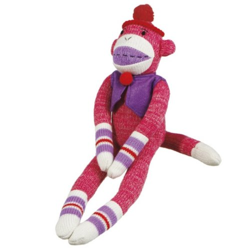 """Pack Of 4 Genuine Monkeez And Friends Pink Plush Penelope Stuffed Monkeys 14"""" front-336453"""