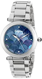 Salvatore Ferragamo Women's FI2020013 Idillio Round Stainless Steel Mother-Of-Pearl Mermaid Watch from Salvatore Ferragamo