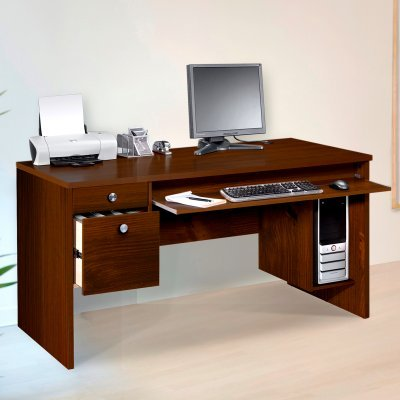 Buy Low Price Comfortable MFI/Nexera Nexera Essentials 60-Inch Computer Desk with File Drawers – Truffle – MFI285 (B003M4VDUW)