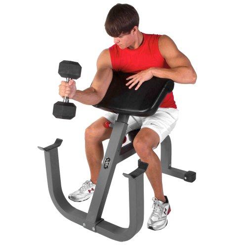 XMark Fitness 11-Gauge Seated Preacher Curl - Arm Machines ...