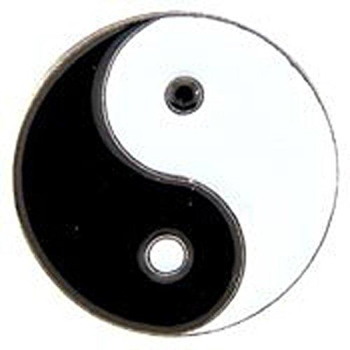 Metal Lapel Pin - Peace, Love and Happiness - Yin Yang