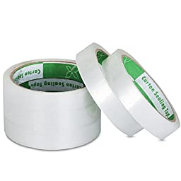 Metronic® Transparent Tape, 0.75 Inches x 50 Yards, 3 Inch Core, 8 Rolls Clear Economic&top Quality Stationary Tape