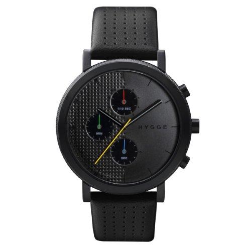 [ヒュッゲ]HYGGE 腕時計 2204 Leather/Black dial Black case POS+ [ポスト] MSL2204BC(BK) メンズ 【正規輸入品】