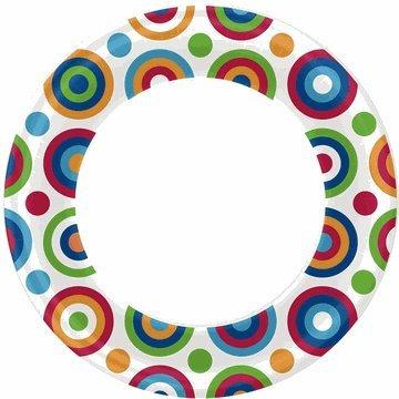 Circles & Dots Dinner Plates (8/pkg) - 1