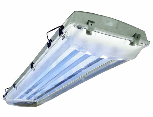 Howard Lighting VHA1A454APSMV000000I  4 Lamp Vapor Proof Fluorescent High Bay Impact Resistance Acrylic Lens