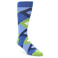 Statement Sockwear Blue / Green Argyle Pattern Men's Socks