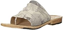 John Fluevog Women\'s Amazon Dress Sandal, Grey Floral, 10 M US