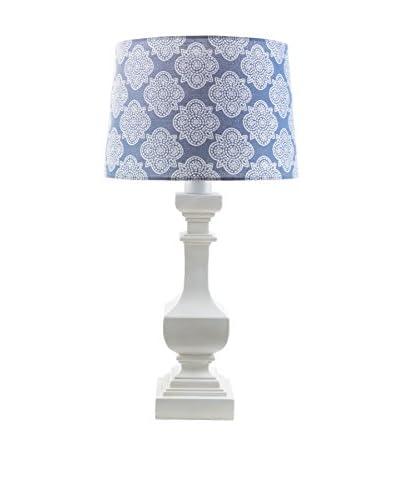Surya Carolina Outdoor Table Lamp, Blue/White