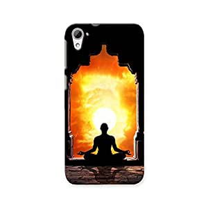 ArtzFolio Yoga Meditation In Lotus Pose : HTC Desire 826 Matte Polycarbonate ORIGINAL BRANDED Mobile Cell Phone Protective BACK CASE COVER Protector : BEST DESIGNER Hard Shockproof Scratch-Proof Accessories