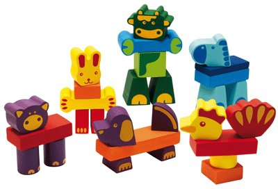 Djeco / Creanimaux Ferme 29-Piece Animal Stacking Blocks