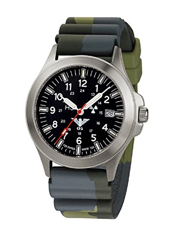 Tactical KHS relojes KHS hombre Titan. PT.DC3 Titan Diver Camo. Colour verde oliva