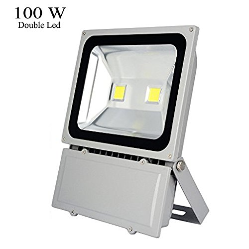 GLW 100W Outdoor LED Flood Lights 6000k Daylight White Security Light, Waterproof floodlight lamp 7800lm 900w Halogen Bulb Equivalent (100w Led Flood Light compare prices)