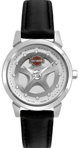 Harley-Davidson® Women's Watch. Leather Strap. Swarovski® Crystal Hour Marks, 76L159