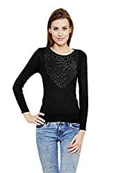 RENKA Black Color winter Pullovers Sweater for Women