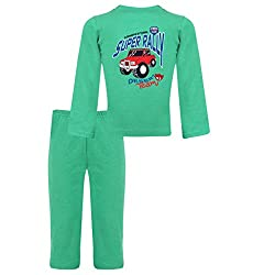 Clifton Baby Boy Pyjama Set -Stump Green Melange -SUPER RALLY -(18-24)M