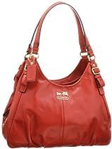 Hot Sale Coach Madison Leather Maggie Shoulder Bag 16503 (Terracotta)