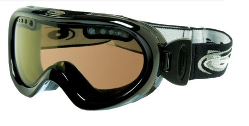 Bolle Nebula Goggles, Shiny Black, Polarized Brown Lens