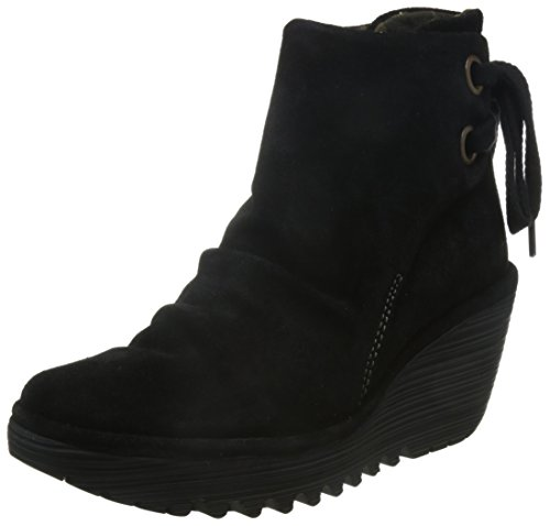 Fly London Yama - Stivaletti Donna, Nero (Black 006), 40 EU