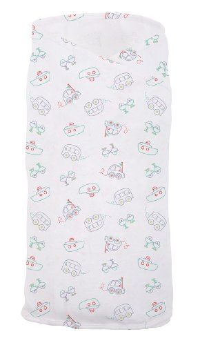 The Gro Company Swaddle, All Aboard, 0-3 Months