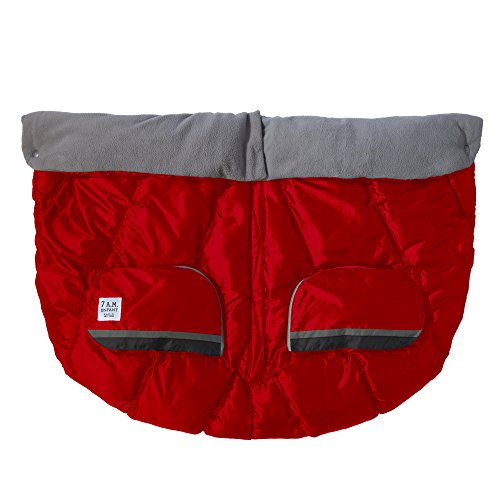 7AM Enfant Duo Double Stroller Blanket, Red