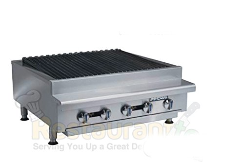 "Imperial Commercial Radiant Char-Broiler 30"" Wide 5 Stainless Steel Burners Propane Model Irb-30 front-604874"