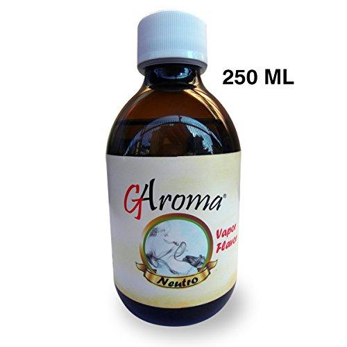 LIQUIDO PER SIGARETTE ELETTRONICHE AROMA NEUTRO 250 ml made in Italy con 5 flaconcini dosatori da 10ml in omaggio questo prodotto non contiene nicotina o tabacco