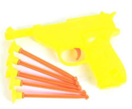 Ja-Ru Blaster Power Series Plastic Dart Gun With Soft Dart Shots, 3-Pack, Orange front-144839