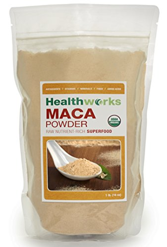HealthWorks-Wild Organic Peruvian Maca Root Powder Wildcrafted Raw Superfood 1 Lb