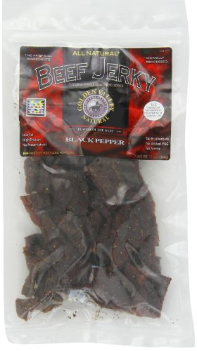 Golden Valley Natural Beef Jerky, Peppered, 12-Ounce Bag