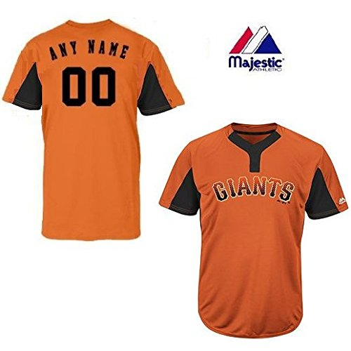 CUSTOM Youth Small San Francisco Giants 2-Button Placket Cool-Base MLB Licensed Jersey (Sf Giants Jersey Custom compare prices)