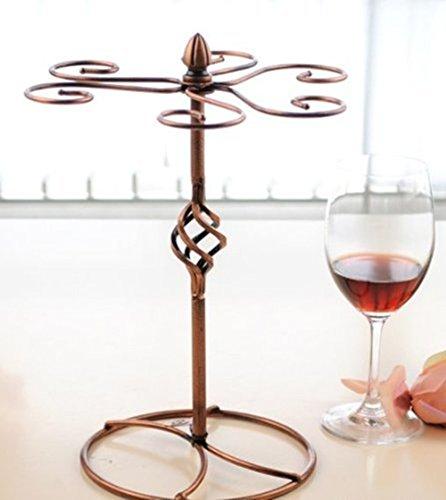 echoaccr-bicchieri-di-vino-cremagliera-calici-rack-tenere-6-glass-vino-elegante-argento-metallo-da-t