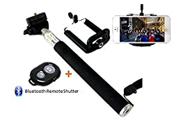 Extendable Self Portrait Selfie Handheld Stick Monopod + Wireless Bluetooth Remote Control For Lava Pixel V2