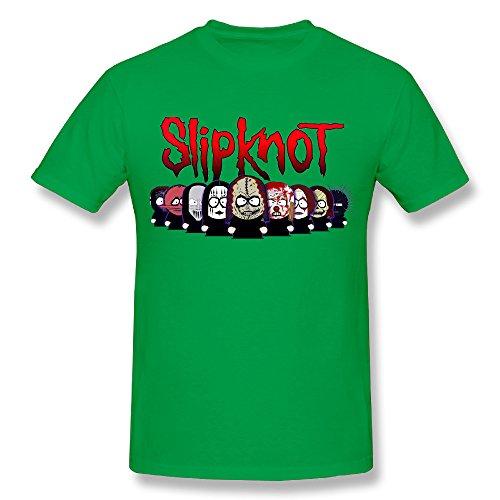 Men's We Love Slipknot Tour Cotton T-Shirt KellyGreen S (New Slipknot Masks For Sale)