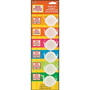 Plaid:Craft  Mod Podge Pot Sampler Set-.44oz 6/Pkg
