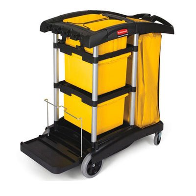 Rubbermaid Commercial Prod. Compact Healthcare-Facility-Focused Cleaning Cart. Includes One Each. Manufacturer Part Number: Rcp 9T73 front-526306