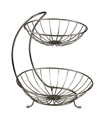 Spectrum Diversified 81378 Yumi Fruit Stand, Tiered Server, Fruit Baskets, 2 Tier, Black (Fruits Bowl compare prices)