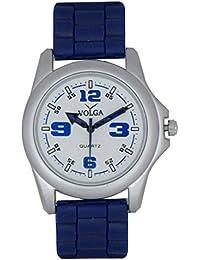 LegendDeal Men's Blue Designer Volga Causal Sweeping Second Hand Analog Watch With Exclusive Rubber Belt - For Men, Boys